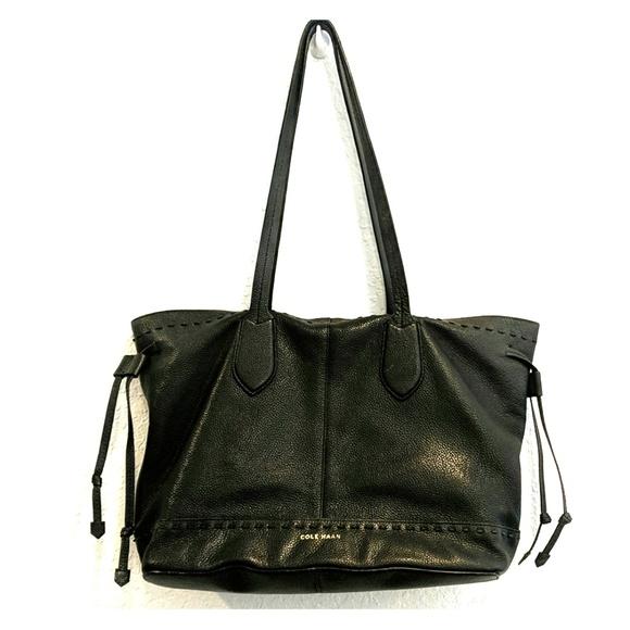 17224ada8b2 Cole Haan Bags | Alessa Black Drawstring Tote Bag | Poshmark